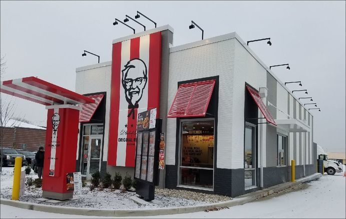 Fullerton Building Systems provided its panelized building systems to the Kentucky Fried Chicken franchise in Toledo, Ohio.