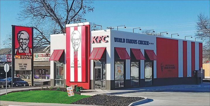 Fullerton Building Systems provided its panelized building systems to the Kentucky Fried Chicken franchise in Tulsa, Oklahoma.