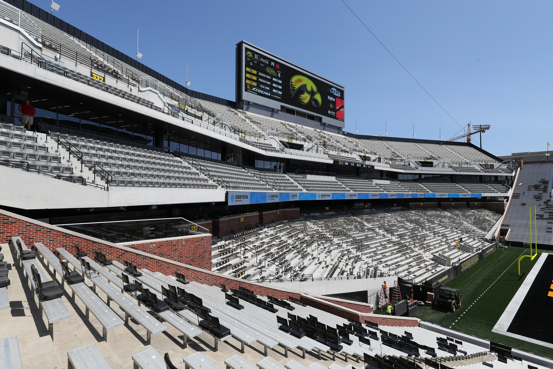 The new north end zone of Kinnick Stadium, the University of Iowa's home turf since 1929. Photography by Brian Ray/hawkeyessports.com