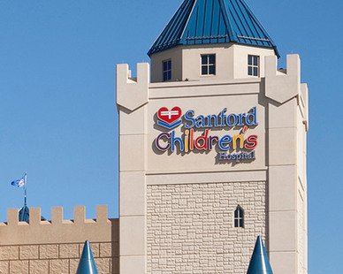 Creating vibrant worlds with imaginative themes throughout every floor, the Sanford Children's Castle of Care is a destination children's hospital where children from throughout the region come to be treated for minor to life-threatening disease and illnesses.  The castle concept provided a way to meet the owner's design challenge and precast concrete was selected for the building envelope.
