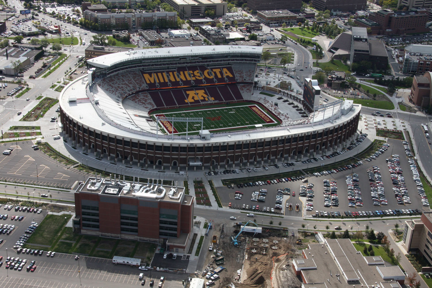 """""""It was my great pleasure to work with Gage Brothers. The University of Minnesota benefited by the use of Gage Brothers' precast concrete in the construction of TCF Bank Stadium.   Our original design plan called for hand-laid brick, an arduous project which contractors estimated would require 100 masons on-site for 13 to 14 months. After a discussion with our construction and architectural firms, the decision was made to use precast for the close to 100 colonnade columns that circle the stadium as well as for several other stadium components.   Gage Brothers was very responsive to our project needs by offering a great range of color options and very attentive service. The panels were installed in 10 months and with just 15% of the workforce that would have been needed for hand-laid brick.  Mortenson Construction estimated that we saved $3.2 million dollars and shaved five months off the project schedule by utilizing precast concrete.  From the helpful discussions, insights and expert consultation you provided us in the planning stages through the final clean up, you provided excellent service.""""   - Derek Hillestad, former Director of Operations, TCF Bank Stadium"""