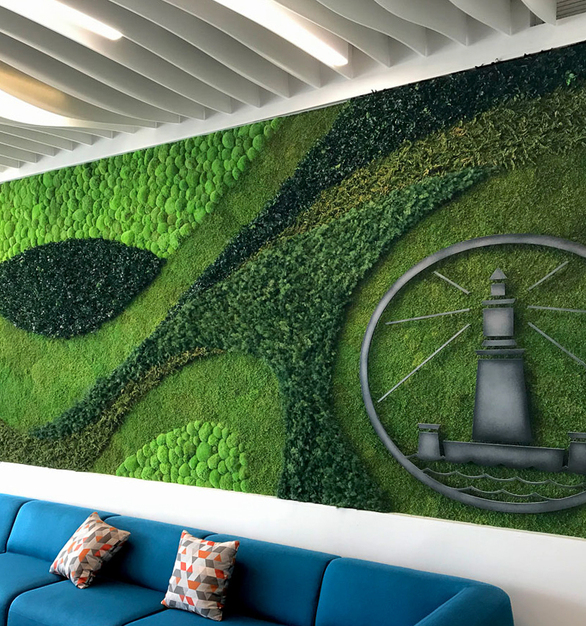 Whether it's a custom planter insert, wall or ceiling garden, or a custom-shaped garden integrating a logo – the versatility of elements available for the creation garden installations allow integrating 'Maintenance-free Nature' seamlessly into built environments.
