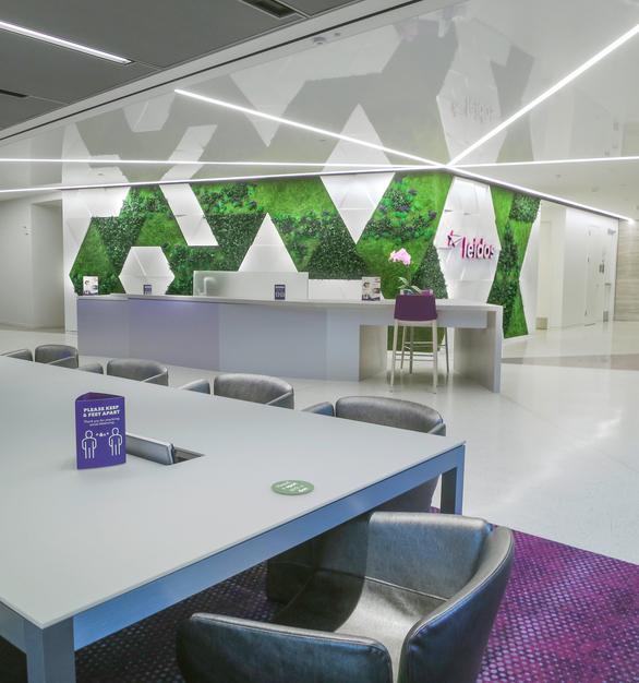 Garden on the Wall Leidos World Headquarters Reston Virginia Office Versatile Open Workspace and Hallway Design