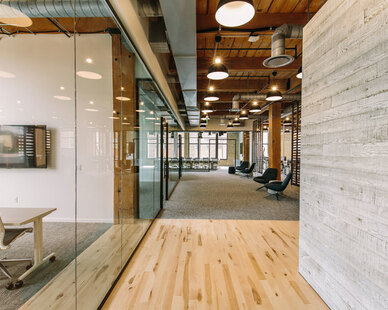 Located in the Tractorworks Building in the historic North Loop neighborhood of Minneapolis sits the Land O' Lakes corporate office. Gardner Builders worked closely with both the architect and the client to execute all 5,593 SF of the beautiful workspace's and offices in the historic building.