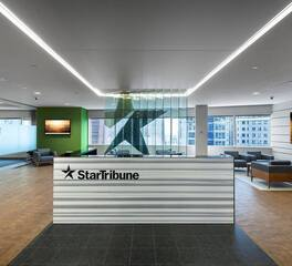 Gardner Builders Star Tribune Minneapolis Minnesota Office Reception Area Design
