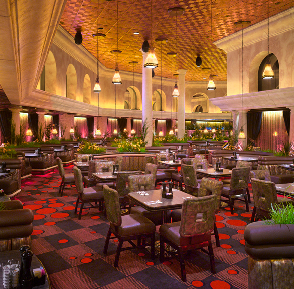 Gasser Chair Company manufactured the seating featured in the Cafe Milano at the Peppermill located in Reno, NV.