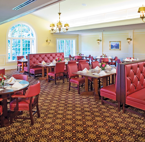 Gasser Chair Company manufactured the seating found at the Edgeworth Club located in Sewickly, PA.