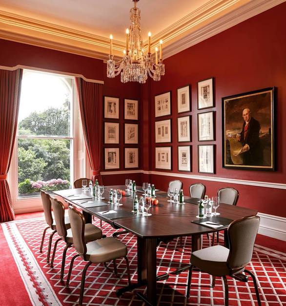 Stackable seating can be found throughout The Shelbourne Dublin, A Renaissance Hotel, within intimate gathering areas to event halls.