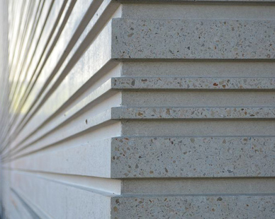 Close-up precast design at the Nordstrom store in The Woodlands, TX.