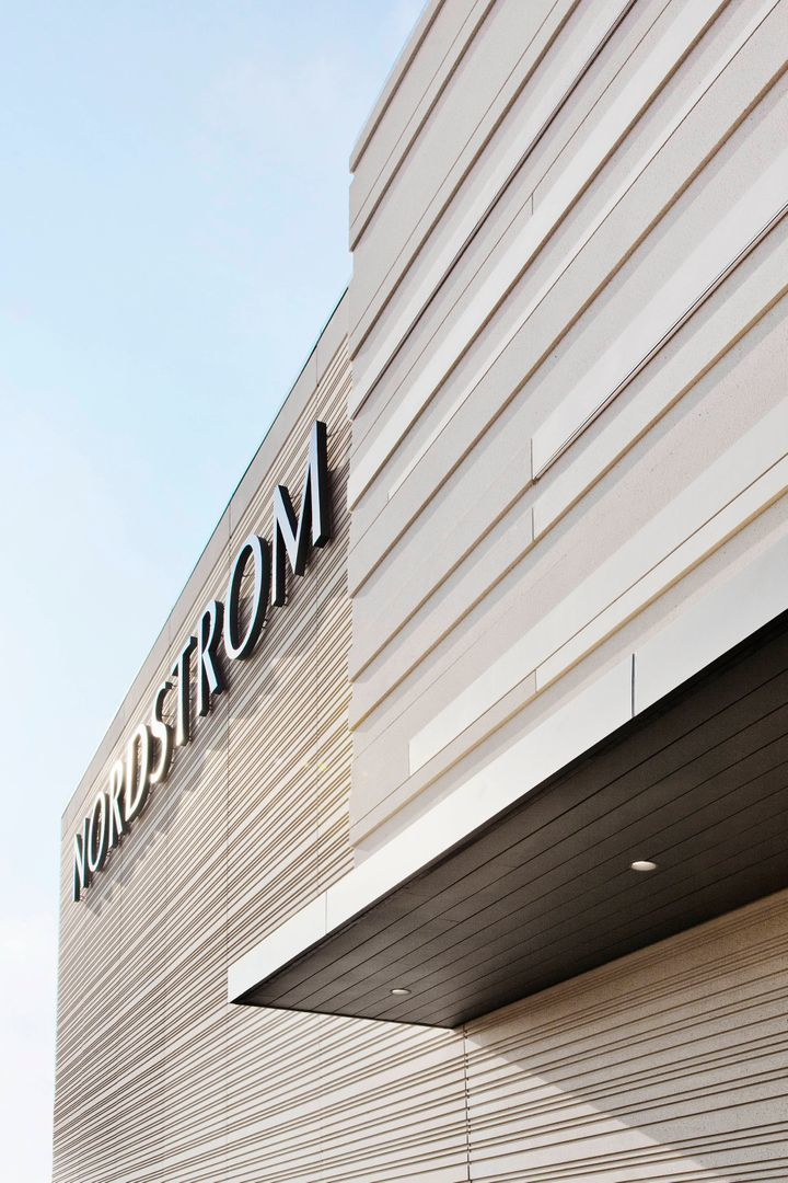 Precast detail of the Nordstrom storefront in The Woodlands, TX.