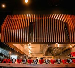 Gator Millworks Restaurant Design JINYA Ramen Shop Suspended Ceiling