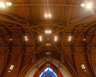 Gator Millworks St George Catholic Church Baton Rouge Louisiana Sanctuary Interior Ceiling Millwork