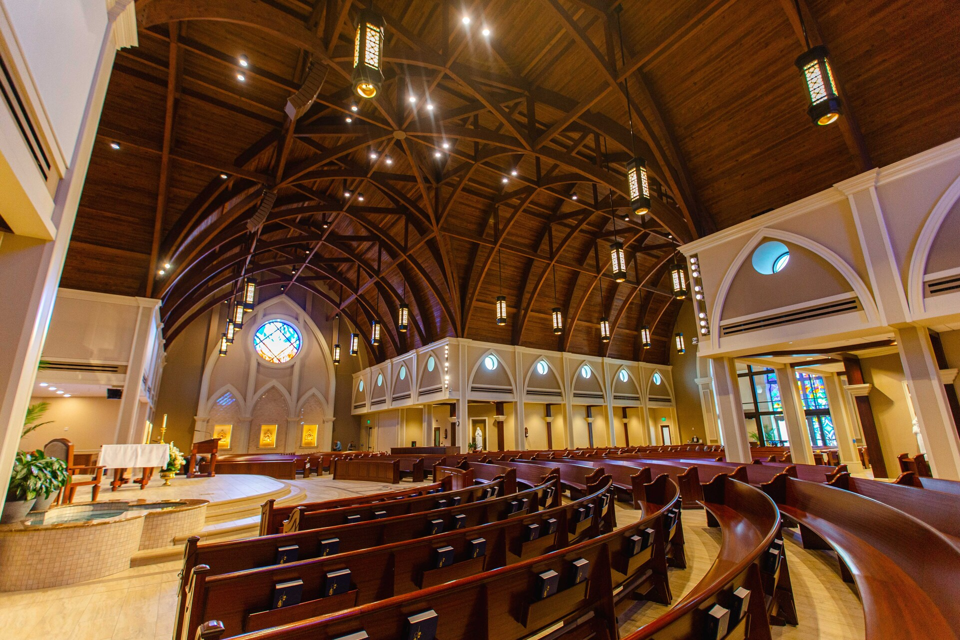 From the decorative trim to the arches, Gator Millworks puts in the time and effort to exceed expectations. St. George Catholic Church is located in Baton Rouge, Louisiana.