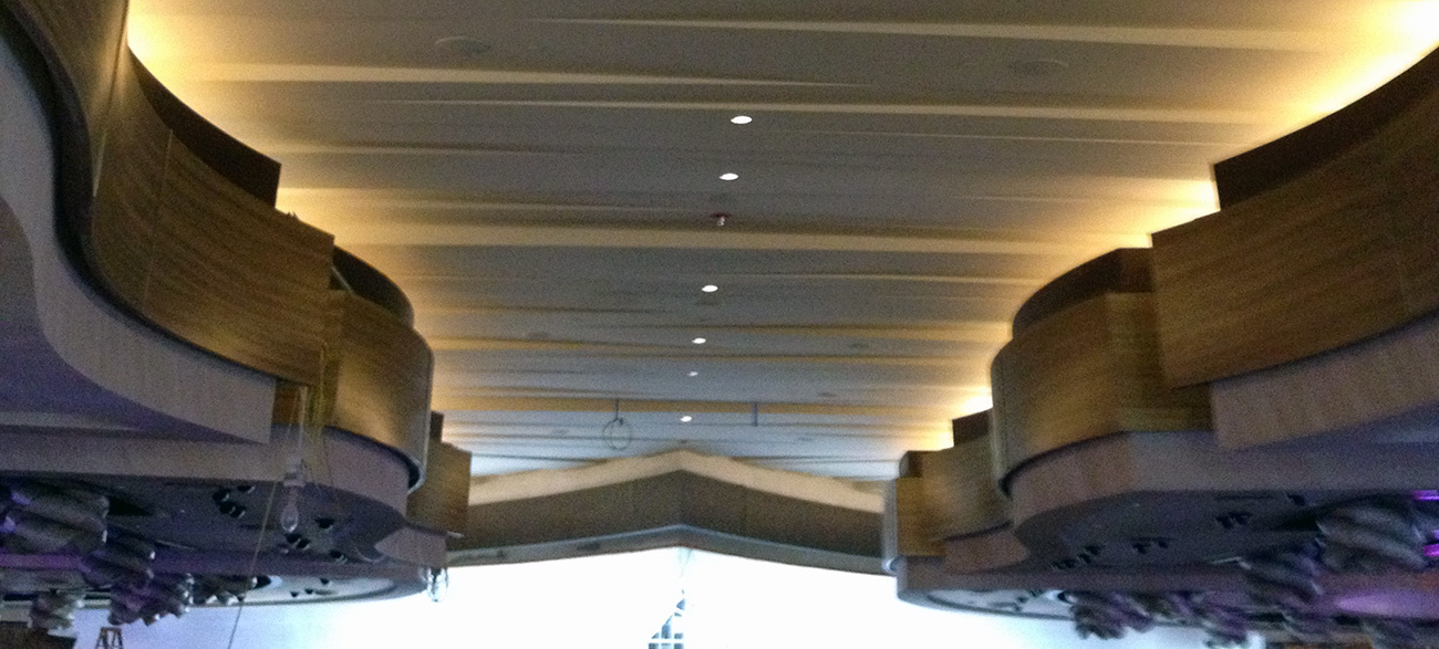 Stunning custom GRG/GFRG ceiling systems and tiles provided by GC Products.