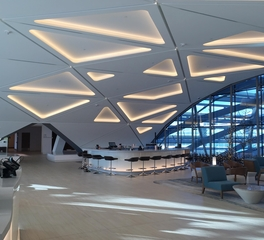 GC Products The Westin Denver International Airport interior lounge specialty ceiling 1