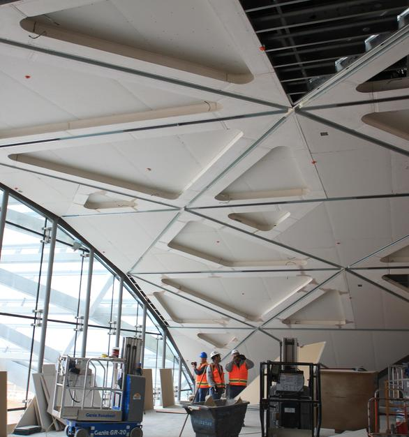 At The Westin, attached to the Denver International Airport, GC Products supplied various sized GRG/GFRG columns and access panels, as well as the custom ceiling located in the Sky Lobby.