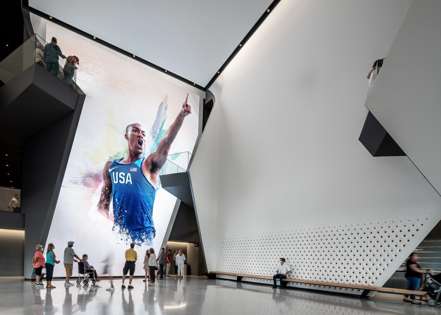 Glass fiber reinforced gypsum, or GFRG, is one of the most popular architectural products for custom panels, columns, trims, ceilings, and other finished castings. As seen here in the US Olympic Paralympic Museum.