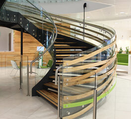 Glasshape BP Head Office Auckland New Zealand Curved Stairway Design