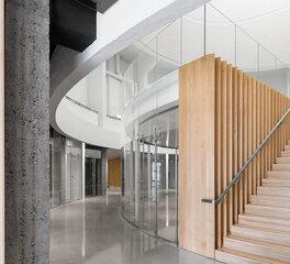 Glasshape Dow Planetarium Interior Stairway Modern Finishes