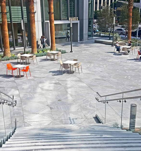 Glasshape Intercontinental Hotel Los Angeles Hospitality Design Outdoor Courtyard