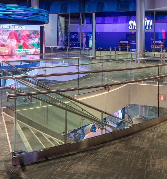 Glasshape NBA Experience Disney Orlando Florida Staircase Building Materials