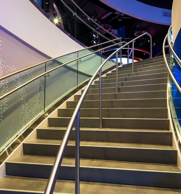 Glasshape NBA Experience Disney Orlando Florida Staircase Details