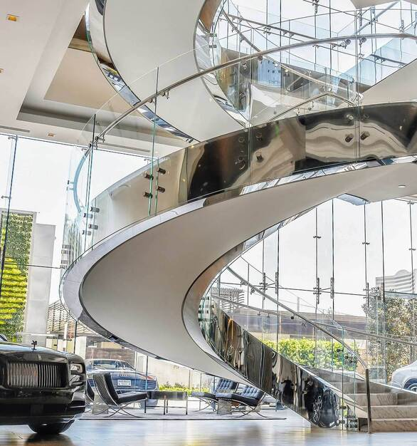 We have the capabilities to bend our Glass in many different ways, shapes, and sizes; providing a limitless array of options for custom curves. Using a common radius across multiple panes means one setup cost can be amortised, significantly reducing costs.