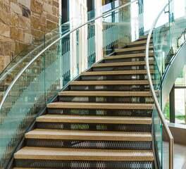 Glasshape Southwestern Adventist University Dallas Fort Worth Texas Curved Glass Stairway