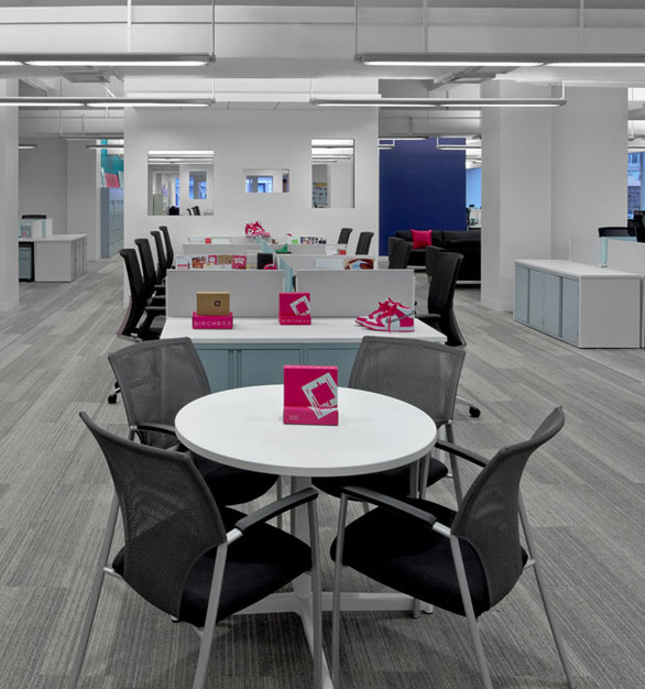 Beautiful seating and filing cabinets provided by Global Furniture Group for the Birchbox HQ in New York, New York.