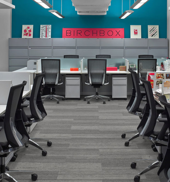 Beautiful seating provided by Global Furniture Group for the Birchbox HQ in New York, New York.