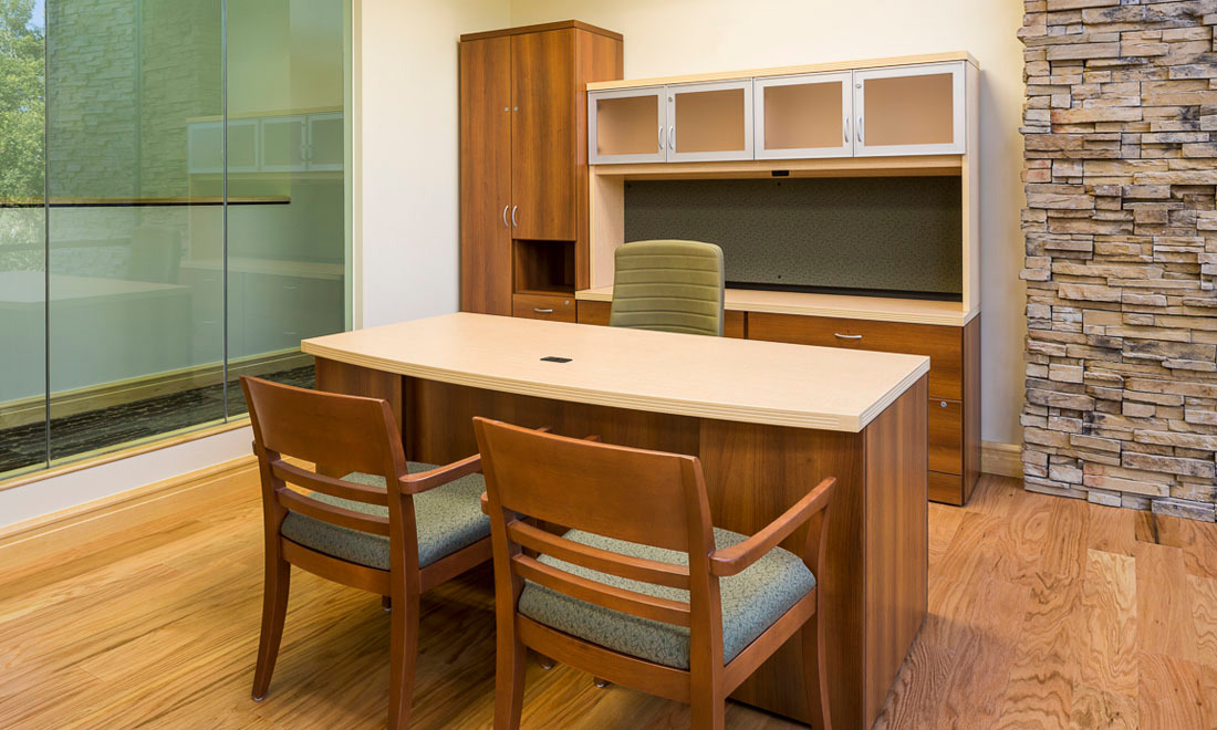 Global Furniture Group provided the furniture for Aubrey Organics office space.