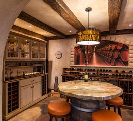 Granicrete Minnesota North Oaks Wine Cellar Interior 1