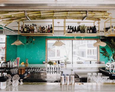 Tropical and Inviting Bar area at the Hai Hai in Minneapolis, MN