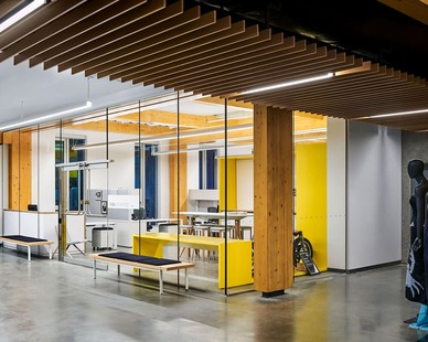 The classrooms are well lit with lighting from Fluxwerx products.