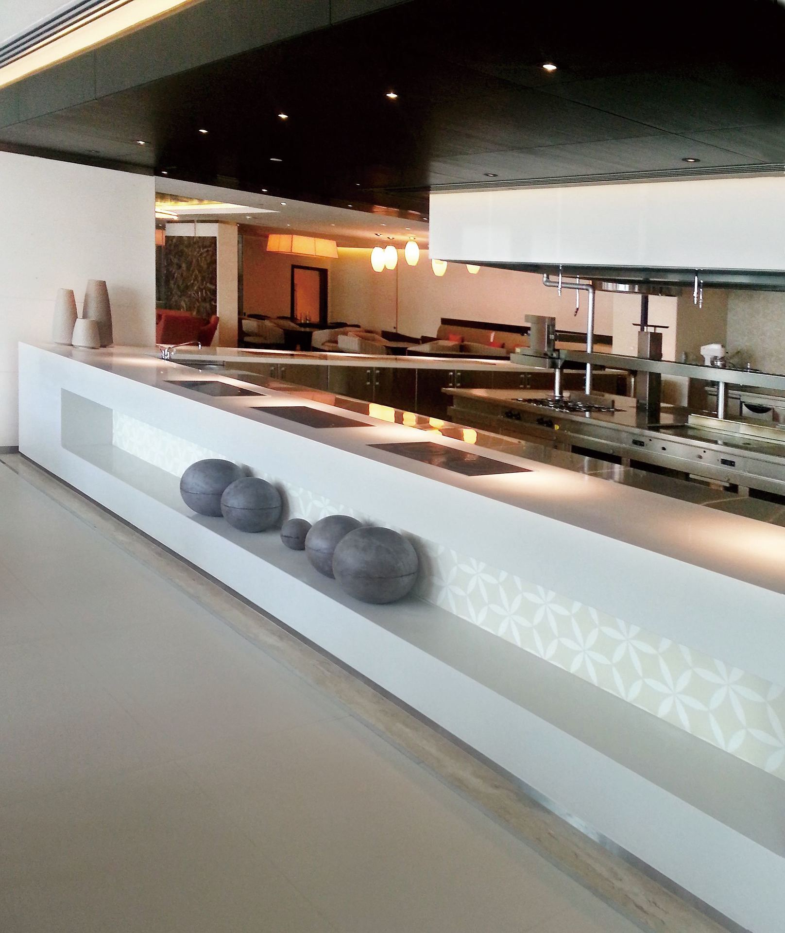 Hanex Solid Surfaces Restaurant Cooking Station