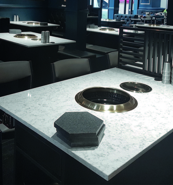 Use Hanstone Quartz for all your dining table needs by Hyundai L&C USA.