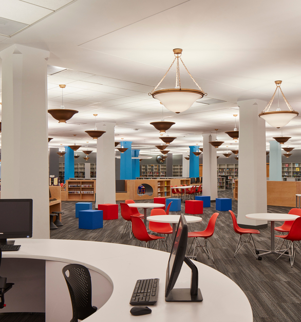 The Chicago Public Library was constructed in 1873. As a Chicagoland Historical Landmark the building has gone through several renovations during its lifetime.