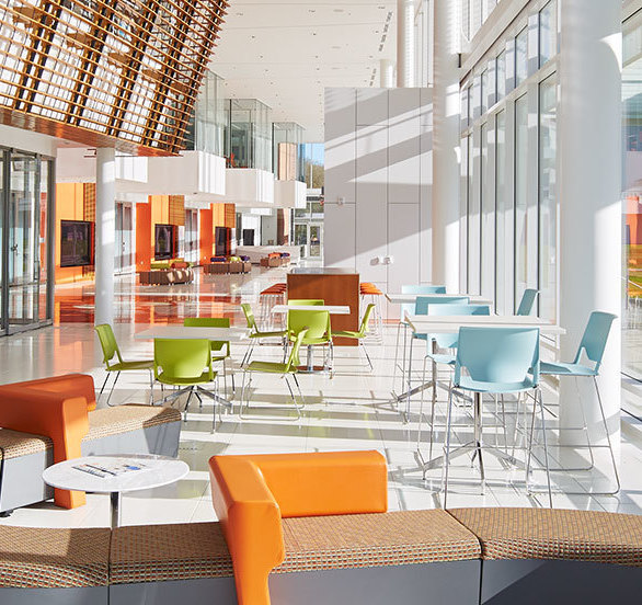 Watt Family Innovation Center Cafe, providing alternate space for students, faculty and visitors to touchdown and recharge.