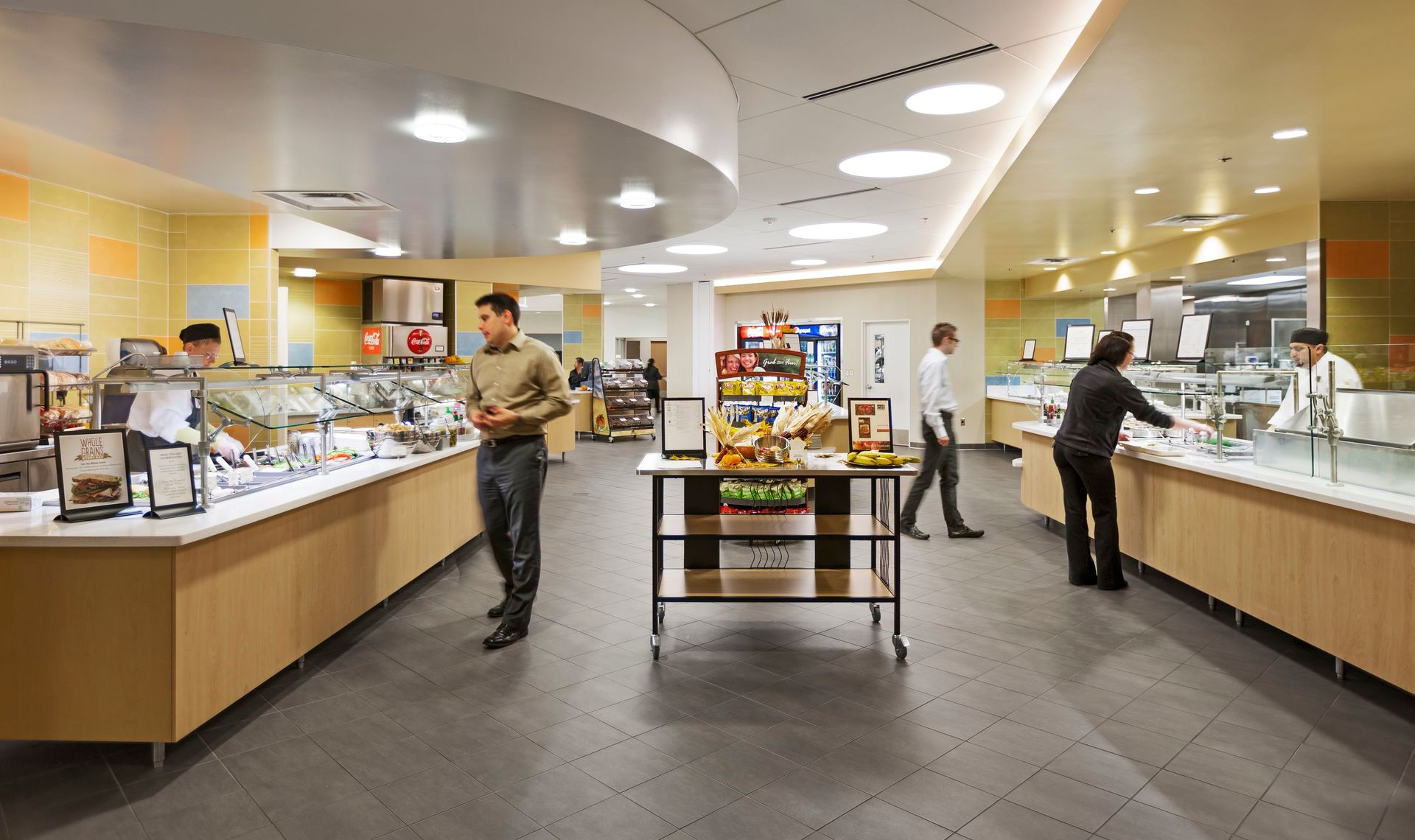 The cafeteria at the CPG Corporate office in Shoreview, Minnesota, by HCM Architects.
