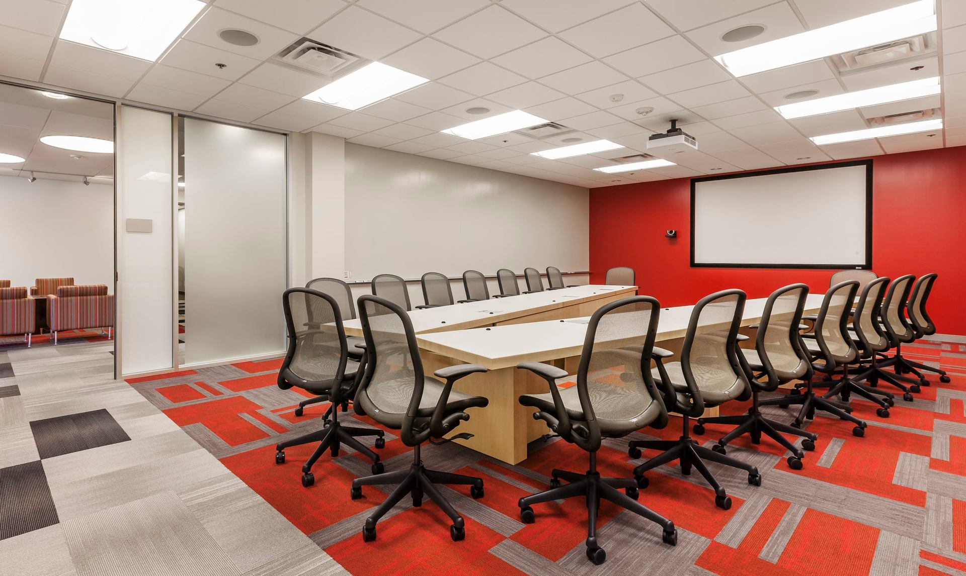 A large conference room design at the CPG Corporate office in Shoreview, Minnesota, by HCM Architects.