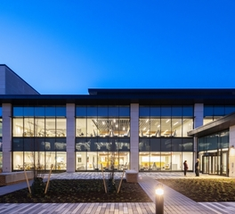 HDR Bristol myer squibb workplace addition exterior lights on