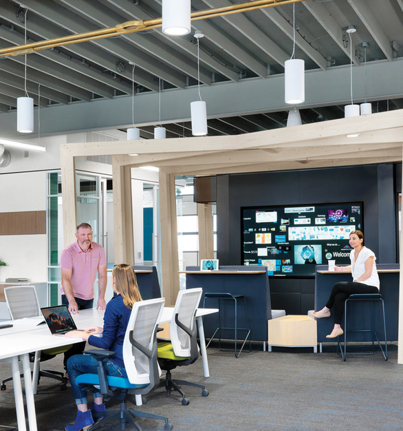 Featuring the LC7 cylinder lighting fixtures at the Coltrane office headquarters. Designed for architectural interiors such as museums, lobbies, churches, and universities, the LED cylinders provide versatile down or up/down illumination. For even greater impact and light output, LED Cylinders have the unmatched ability to hub mount groups of fixtures together. With a variety of sizes, colors, and options, the look and feel you can achieve with our