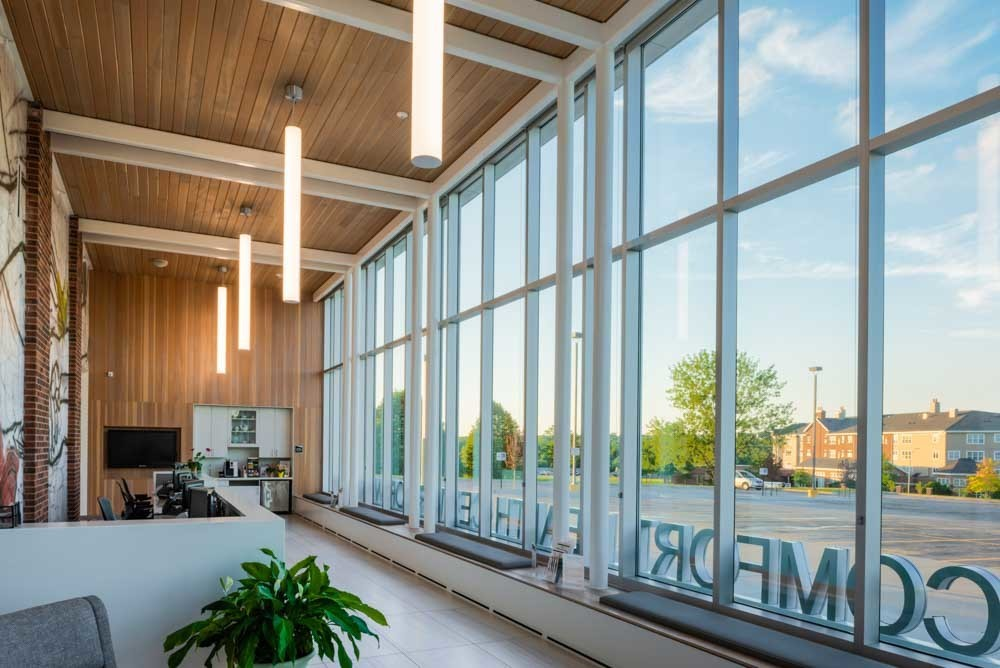 MODUS was challenged with renovating an existing building without as-builts. The scope of work included reworking existing equipment and pipe routing throughout the building. Part of the project included an addition for the new entrance/lobby into the Women's Center.