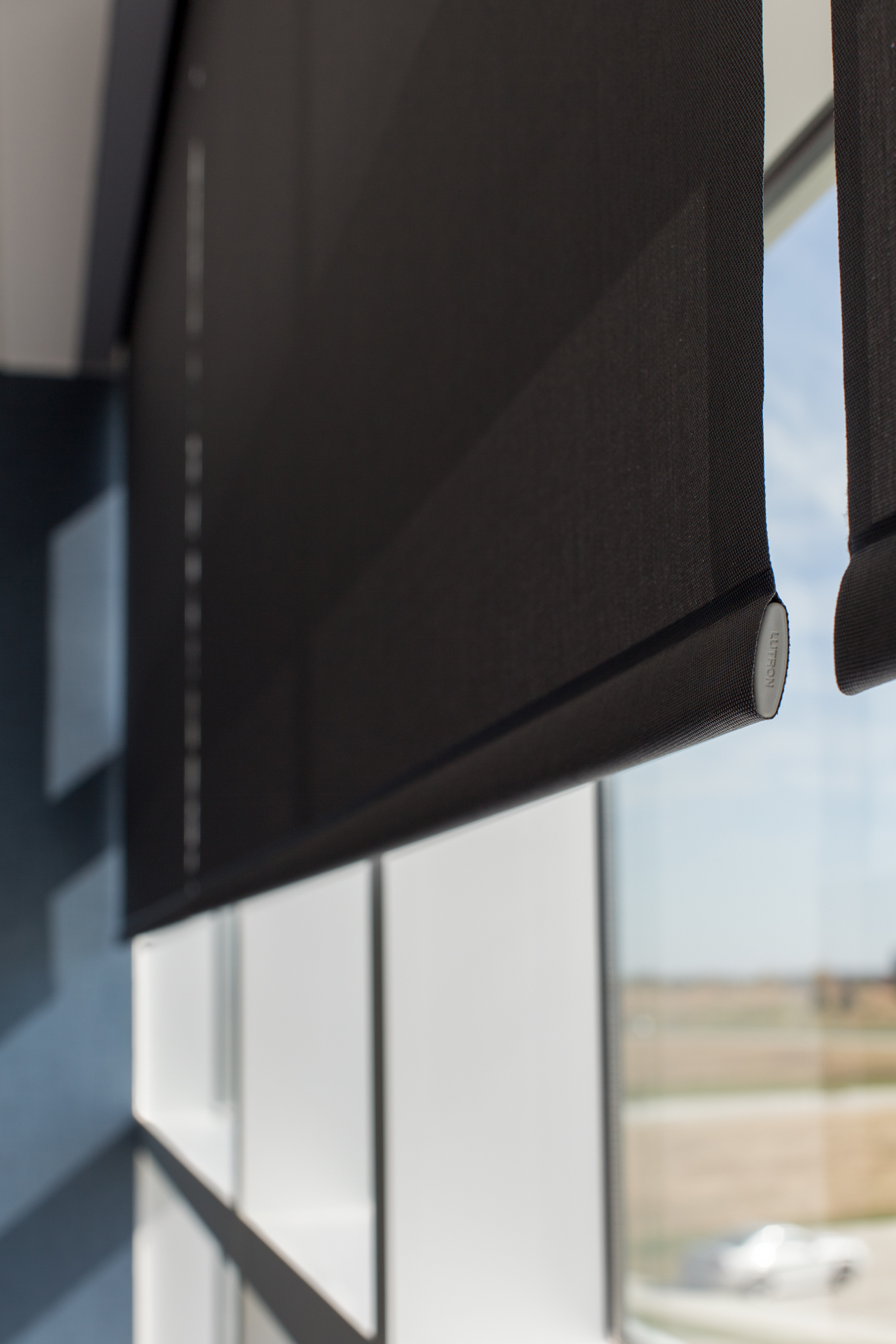 Smart shading system by Lutron. Photography by Alex Benge.