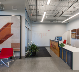 Heartland Companies Story Construction Offices Ames Iowa Reception Area