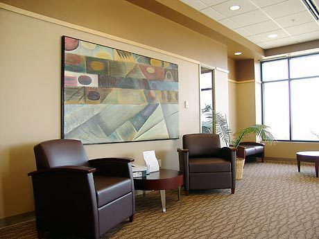 Inviting lobby at Iowa Digestive Center located in Clive, Iowa, by Heartland.