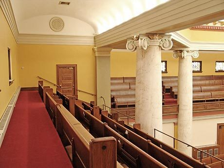 United Methodist Church has eye-catching features throughout the sanctuary space, by Heartland.