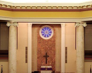 Beautiful worship space at United Methodist Church, by Heartland.