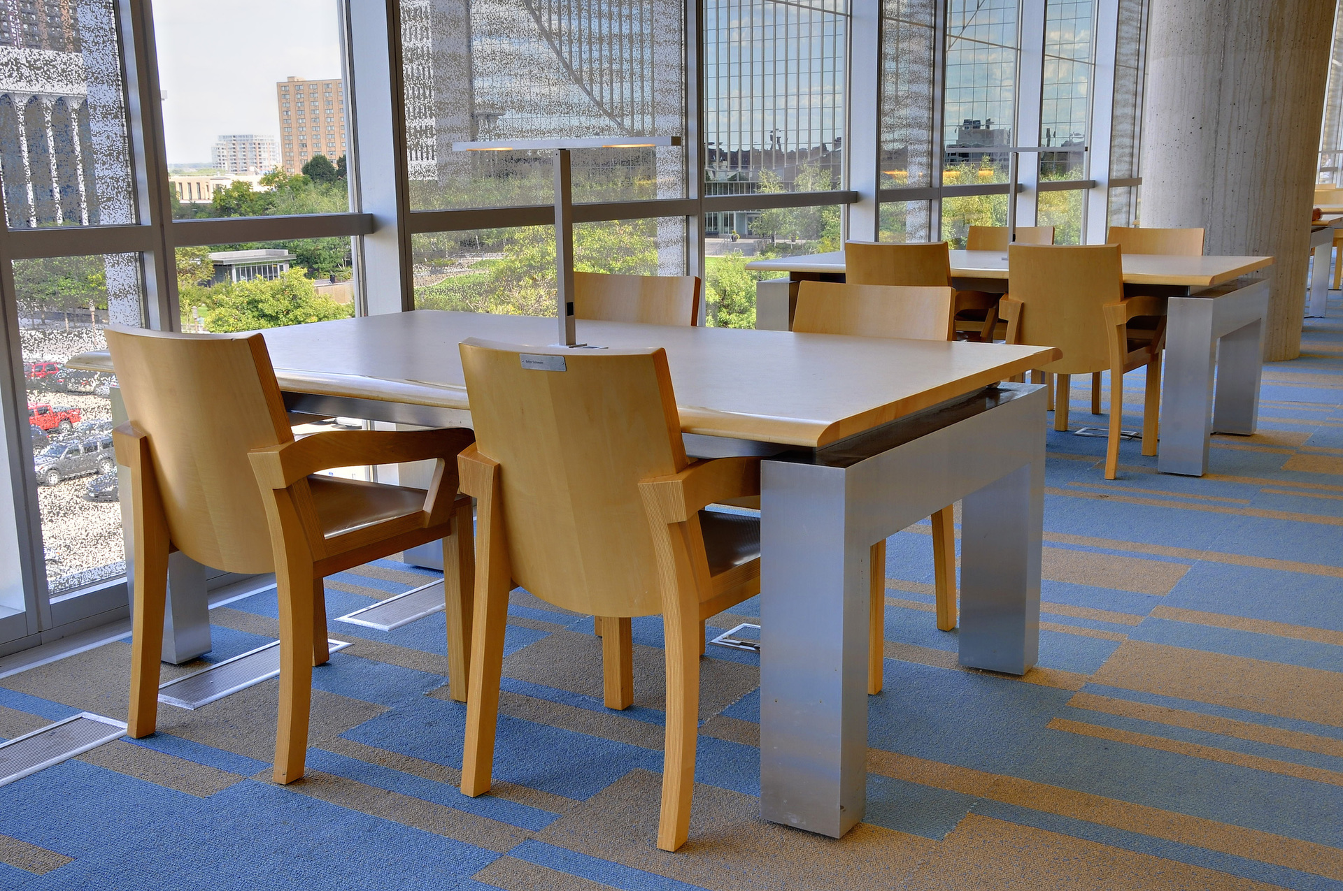 Desk Lights at Hennepin Library by Pulse Products