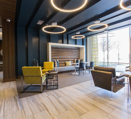 Hensley Lamkin Rachel Oak Grove One Modern Apartment Lobby Design